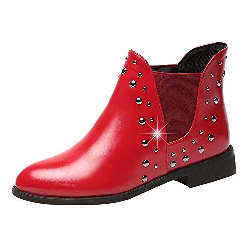 SCHOLIEBEN Boots Stiefel Chelsea Damen Schwarz Ankle Winter Kurzschaft Halbschaft Combat Desert Chukka Absatz High Heel Plateau Schuhe