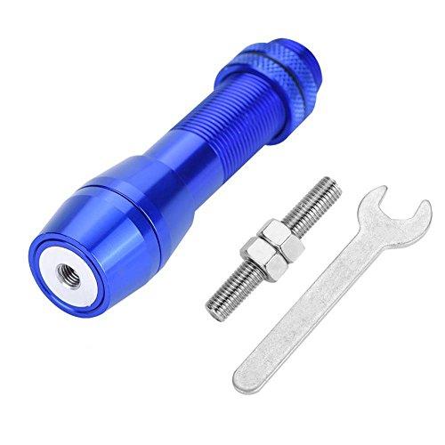 Dilwe Spinnrollenhalter, Aluminiumlegierung Bowfishing Rollenhalterung für Spinnrollen Zubehör(Blau)