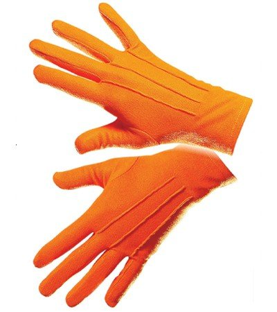 Handschuhe Clown Gloves Gothic Butler Rokoko show Zirkus Engel farbig Theater (Orange)