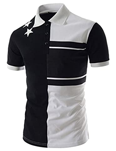 Whatlees Mens slim fit polo shirt with contrasting stripes in