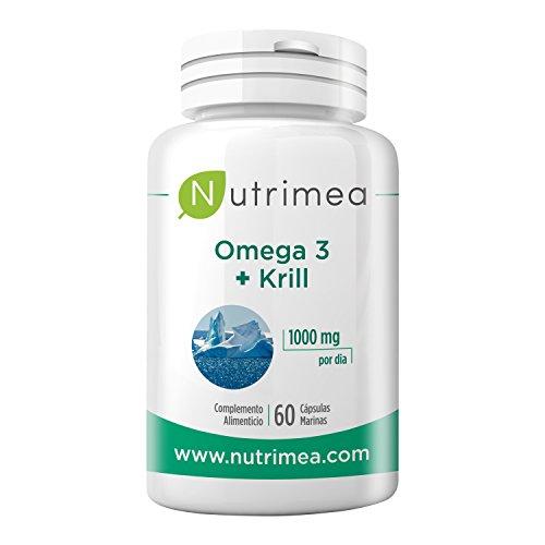 Omega 3 + Krill Aceite de Pescado 1000 mg 4 Veces Concentrado DHA EPA Complemento Alimenticio Omega...
