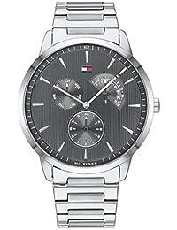 Tommy Hilfiger Reloj Analógico para Hombre de Cuarzo con Correa en Acero Inoxidable 1710385