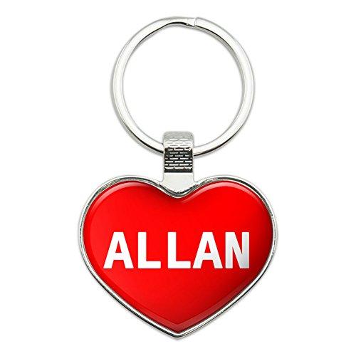 Metal Keychain Key Chain Ring I Love Heart Names Male A Alfo