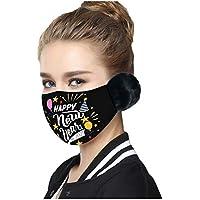 COKKISS UK 1 pieza 2021 Feliz Año Nuevo Adulto cubierta de la cara de la ventilación de la seguridad, protección caliente, bandanas reutilizables lavables a prueba de polvo _mascarillas