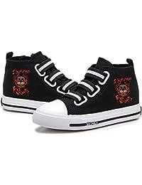 Gbbhretg Five Nights at Freddy'S Zapatos Versión Coreana de los Zapatos del Ocio Zapatos de Lona de impresión Velcro Ligero Alto-Top de los Zapatos niños y niñas