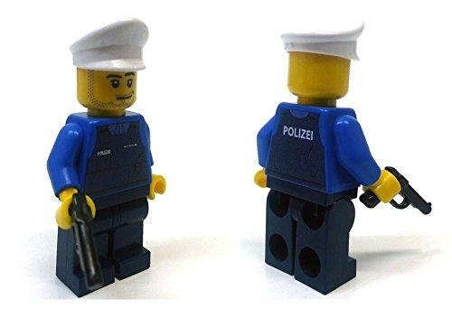 Modbrix 8237 – 2 Stück Deutsche Polizei Custom Minifiguren aus original Lego© Teilen - 2