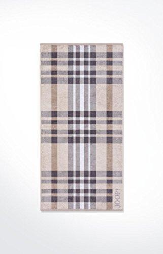 JOOP! - Frottier Handtuch in verschiedenen Größen und Farben, Breeze Checked (1650), Größe:Strandtuch (80 x 200 cm);Dessin:Stone (37)