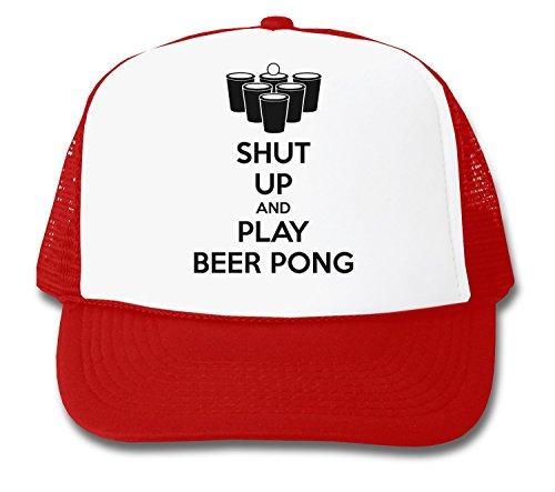 ShutUp and Play Beer Pong Trucker Cap
