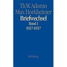 Briefwechsel, Band 1, 1927 - 1937