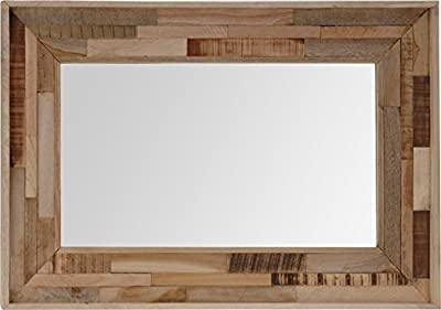 Mirror with Wooden Frame - cheap UK light shop.