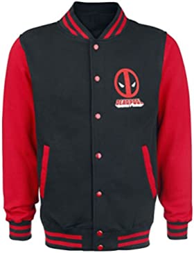 Deadpool Deadpool - Chaqueta estilo college con logotipo - Color negro/rojo