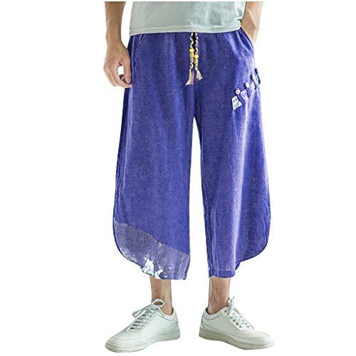 Pantaloni Larghi Uomo,☀NnuoeN☀ Pantaloni Larghi Delle Uomo Harem Pants Pantaloni Di Lino In Cotone Da Uomo Pantaloni Largh