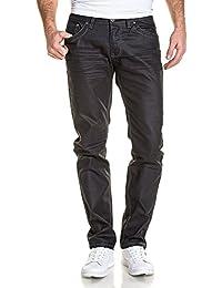 BLZ jeans - Jeans homme noir luisant coupe droite