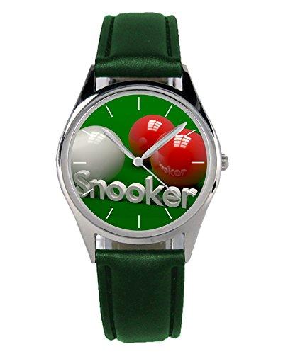 Snooker Geschenk Artikel Idee Fan Uhr 20010-B-Grün