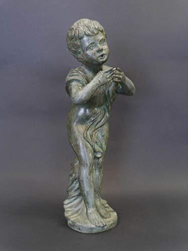 Antike Fundgrube Wasserspeier Springbrunnen Wasserspiel Junge aus Bronze für den Garten (8490)