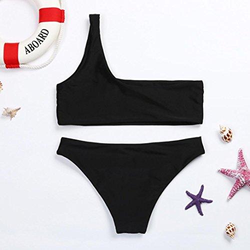 Donna Bikini Set ,Nuovo Sexy Costume da bagno Push-Up Reggiseno imbottito Costumi da bagno Donne Beachwear Mare Costume Estate Beautytop Nero