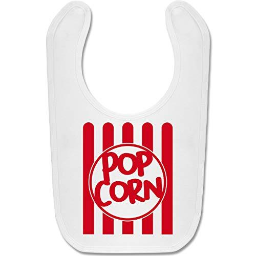 Shirtracer Karneval und Fasching Baby - Popcorn Karneval Kostüm - Unisize - Weiß - BZ12 - Baby Lätzchen Baumwolle