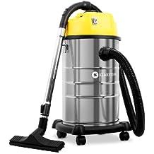Klarstein IVC-30 aspiradora industrial (30 l, 1800 W, aspiración seca y húmeda sin bolsa, doble motor) - amarillo metal