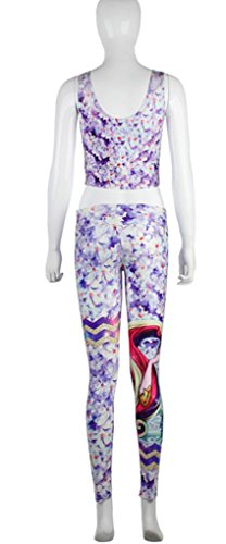 Belsen - Legging - Femme multicolore Drop Medium fleur