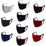 Urban Basics Mouth Nose Cover Respirator Anti Pollution Reversible, Reusable & Washable Double Layer Cotton Unisex Face Mask(Multicolor, Pack of 10)
