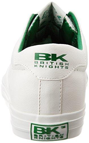 British Knights ACE UNISEX BASSA SNEAKERS Bianco/Verde
