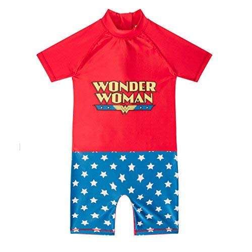 As Available Dc Comics Wonder Woman Offiziell Geschenk Kleinkind Mädchen Kinder Schwimmen Surfanzug - Wonder Woman, 4-5 (Wonder Woman, Kleinkind)
