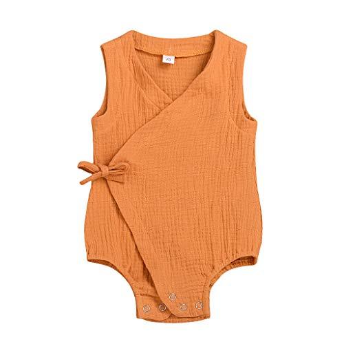 Sommer Baby Jungs Mädchen Ärmellos Solide Strampler Overall -