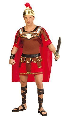 Herren römischen Centurion Alten griechischen Gladiator historischen Warrior Soldier Fancy Kleid Kostüm Outfit Große - Rot, L