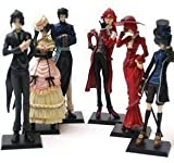6 Anime Kuroshitsuji Black Butler Characters Figure Set ~FREE PIN with PURCHASE~ by N/A