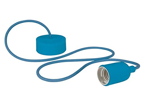 Velleman LAMPH01BL Luminaire Design à Suspension en Cordage Verre Bleu
