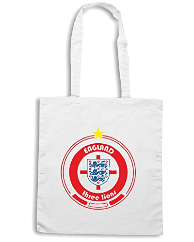 T-Shirtshock - Borsa Shopping WC0673 World Cup Football - Team England Bianco