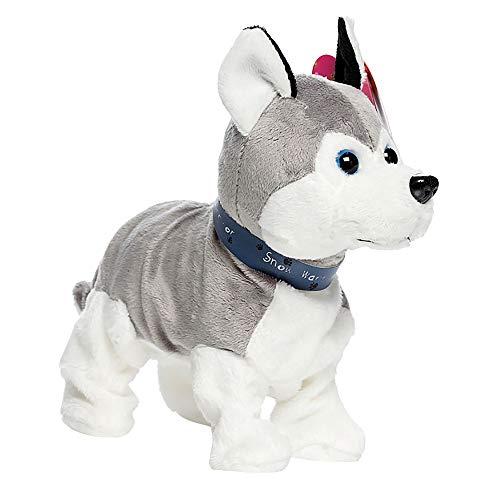 Gaddrt Roboter-Hund Interaktiver Roboter-Hund-elektronischer Plüsch-Spielzeug-Weg-Ton-Barken-Stand für Kindergeschenk 28cm x 26cm (C)
