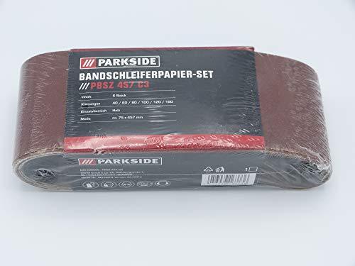 PARKSIDE Bandschleiferpapierset PBSZ 457 C3 6-teilig