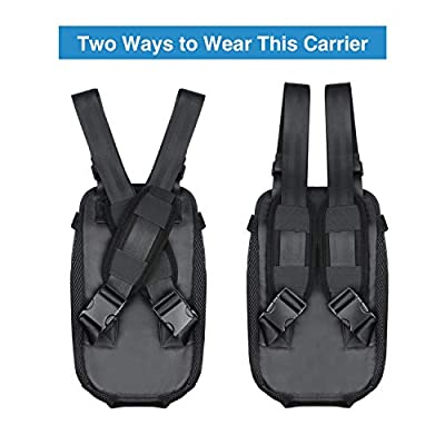 NICREW Legs Out Front-facing Dog Carrier Backpack, Hands Free Adjustable Pet Dog Backpack Carrier for Walking Hiking Bike and Motorcycle (Updated Version, Wide Straps with Shoulder Pads) by NICREW