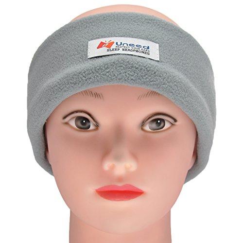 FULLLIGHT TECH Sleeping Headphones Eye Mask with Peaceful Earplugs Ultra Thin Stereo Speaker Soft Comfortable Sports Headband Handsfree Earphones for Workout Relaxation (Fleece Pattern)