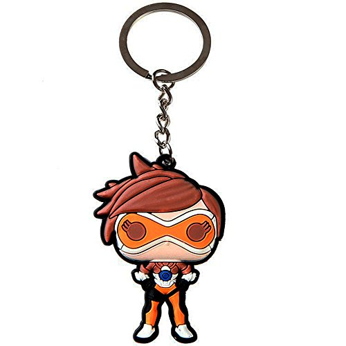 Preisvergleich Produktbild Cilected Soft Cartoon Rubber Keychain for Overwatch(Tracer) by Cilected