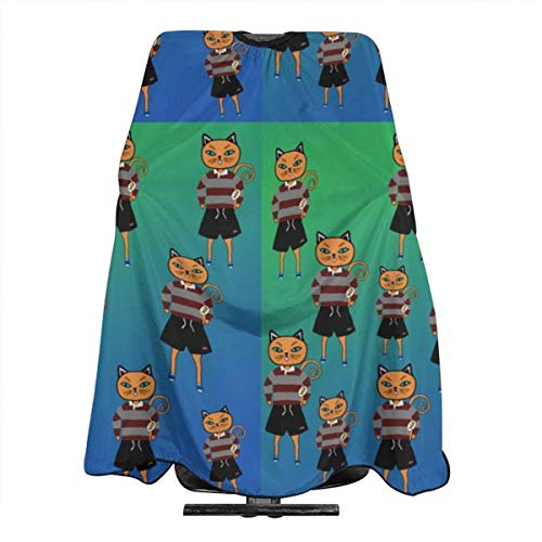 Rugby Kitty Haircut Hairdressing Cape Cloth Apron Hair Styling Hairdresser Cape Barber Salon