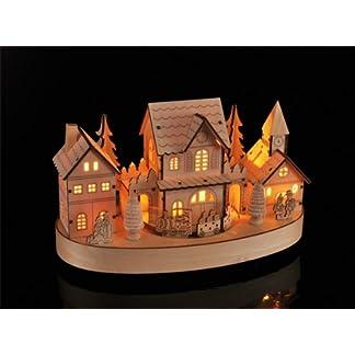 Beleuchtete-Weihnachtsstadt-ca-28-cm-Deko-fr-Weihnachten-LED-Beleuchtung