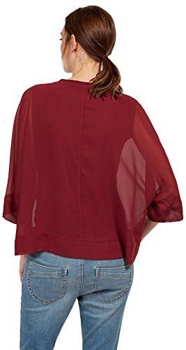 TOM TAILOR Damen T-Shirt preppy plum