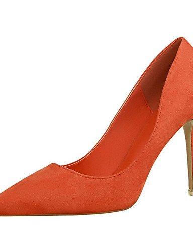 WSS 2016 Chaussures Femme-Décontracté-Noir / Jaune / Vert / Rose / Violet / Rouge / Gris / Orange / Bordeaux-Talon Aiguille-Talons-Talons-Laine black-us7.5 / eu38 / uk5.5 / cn38