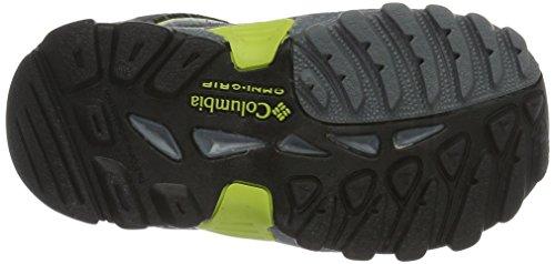 Columbia Childrens North Plains Waterproof, Scarpe Sportive Outdoor Bambino Grigio (Grey Ash/ Voltage)