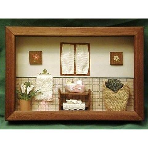 Preciosos cuadros miniatura de baño hechos totalmente a mano