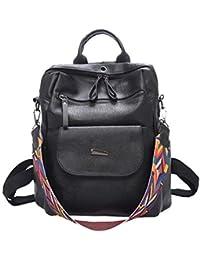 a19db0f02980a Layxi Rucksack Damen Retro Fashion Lässige Backpack Schlicht Elegant  Classic Schulranzen Work Reise Party College Schultasche