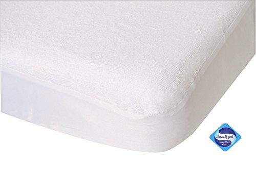 PMP Matratzen-Inkontinenzbezug, wasserdicht und atmungsaktiv, PVC, weiß
