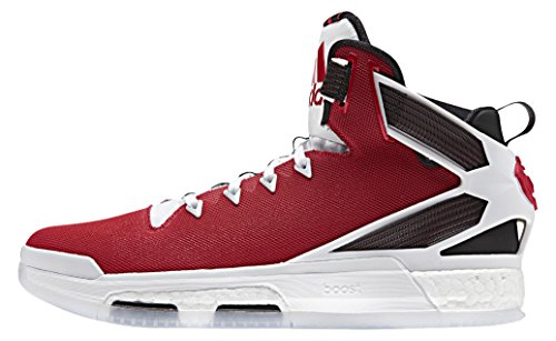 adidas Herren D Rose 6 Boost Basketballschuhe, Rot/Weiß/Schwarz (Scarlet/Ftwbla/Negbas), 53 1/3 EU