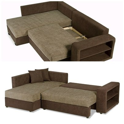 Sofa Couch Ecksofa Houston Schlaffunktion Schlafsofa schwarz/grau Eckcouch - 5