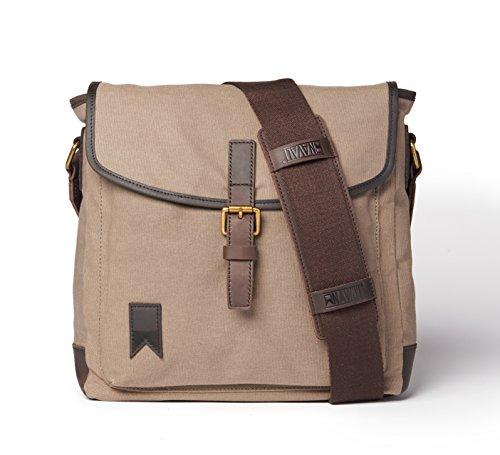 Navali Shipwright Vintage Laptop und iPad Alltagstasche für Damen und Herren - Citytasche - Umhängetasche für jeden Tag - für Tablet, iPad und Laptop bis 13 Zoll - Steingrau