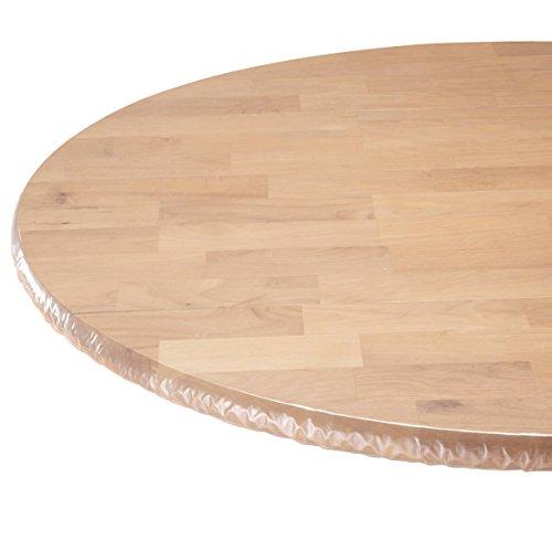 Klar Vinyl elastischer Tisch Cover (Round Table Cover Elastisch)