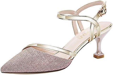 Sandalias del Talón del Gatito De Las Mujeres Punta Estrecha Strappy Slingback Tacones Altos Zapatos De Fiesta...