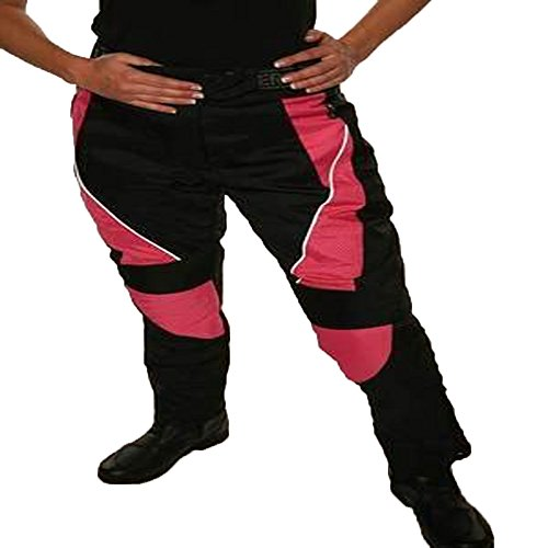 AUSTRALIAN BIKERS GEAR JAZZ PINK CORDURA WATERPROOF ARMOURED LADIES MOTORCYCLE SCOOTER TROUSERS Size 8 Leg 32